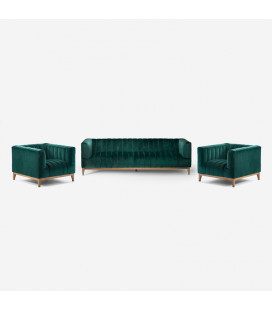 Astoria Lounge Suite - Velvet Emerald Green