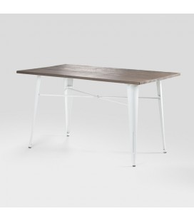 Clement Metal Dining Table - White | Dining Room Tables -