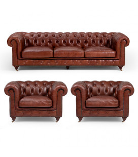 Jefferson Lounge Suite - Brown | Lounge Suites | Leather Couches | Living | Cielo -
