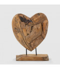 Teakroot Heart on Stand | Decor | Decorative Items | Cielo | -
