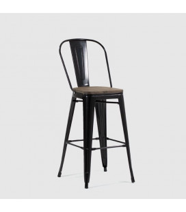 Conrad Metal Stool - Black | Bar Chairs for Sale -