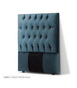 Catherine Diamond Tufted HB | Velvet Petrol Blue