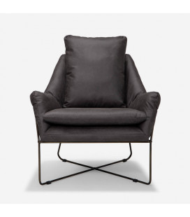 Lancia 3 Seater Couch - Aged Charcoal