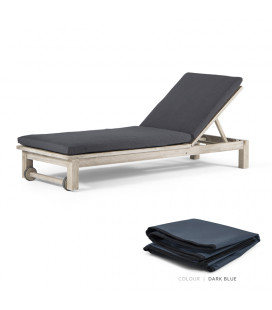 Nevis Pool Lounger - Protective Cover - Dark Blue