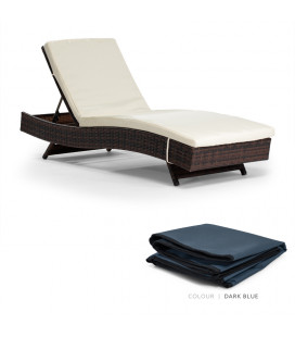 Eclipse Pool Lounger Protective Cover - Dark Blue