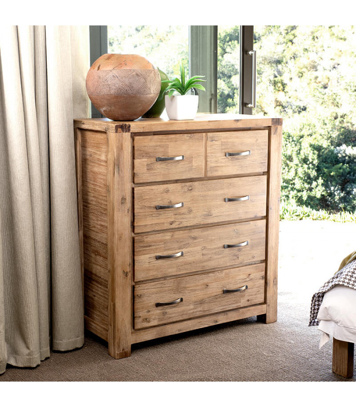 Vancouver Acacia Wood Chest Of Drawers Bedroom