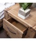 Vancouver Acacia Wood Pedestal   Bedside Tables   Pedestals -