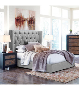 Angelica Double Bed   Everest Silver
