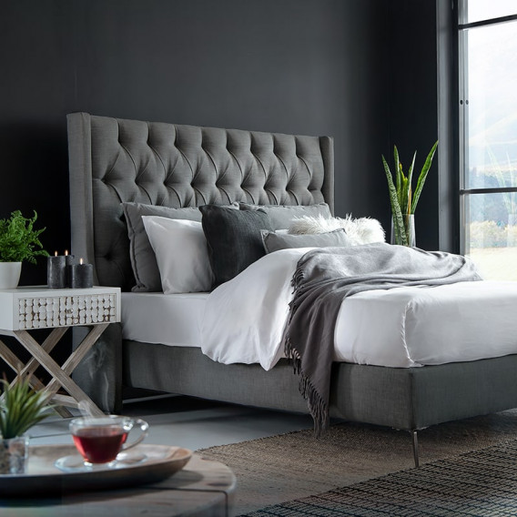 Madison Headboard - Single | Fusion Grey