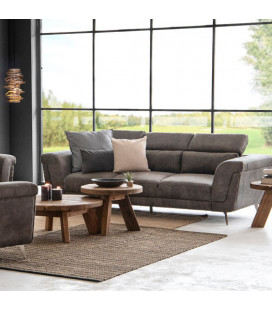 Laurence Three Seater - Fossil| Couches | Fabric Couches | Living | Cielo -