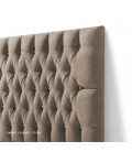 Catherine Diamond Tufted Bed - Queen XL   Everest Stone