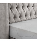 Hailey Bed - Single   Everest Silver