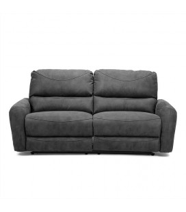 Hudson 3 Seater Recliner - Charcoal