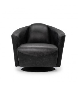 Bandit Armchair - Distressed Black | Leather Armchairs | Armchairs | Living | Cielo -