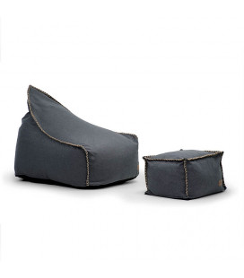 Sarika Beanbag Chair with Footstool - Charcoal | Bean Bags | Kids | Living | Cielo -