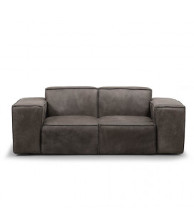 Jagger Two Seater Couch - Graphite | Fabric Couches -