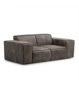 Jagger Two Seater Couch - Graphite -