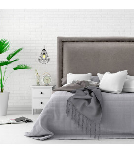 Elizabeth Bed - Double | Everest Grey