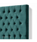 Kate Queen Headboard | Velvet Teal