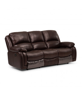 Cooper 3 Seater Recliner - Walnut