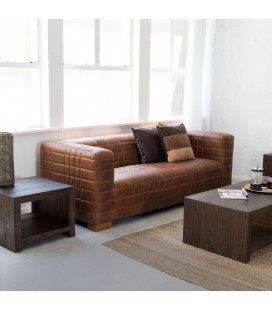 Tan Jackson Leather Couch | Leather Couches -
