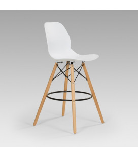 Leroy Bar Chair - White