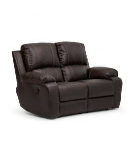 Oxford 2 Seater Recliner - Brown