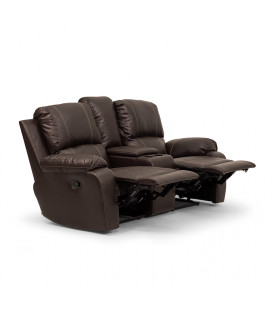 Oxford 2 Seater Cinema Recliner - Brown