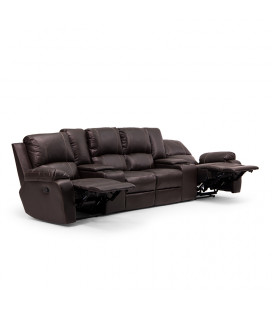 Oxford 4 Seater Cinema Recliner - Brown