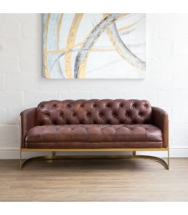 Heston Chesterfield Sofa - Gold Framed