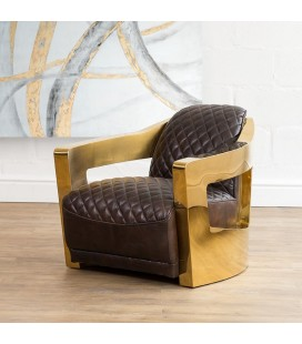 HBF3006-DS - Space Chair - Brass -