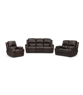 Oxford Recliner Set - Brown
