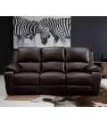 Oxford 3 Seater Recliner - Brown