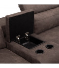 Princeton L Shape Cinema Couch - Fossil -