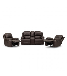 Oxford Cinema Recliner Set - Brown 2,1,1