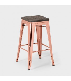Matthew Rose Gold Metal Stool
