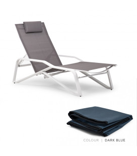 La Casera Pool Lounger - Protective Cover - Dark Blue | Patio Covers | Patio | Cielo -