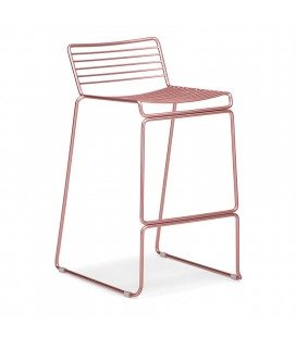 Lux Counter Bar Chair - Rose Gold