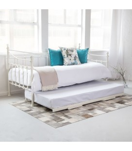 HCX-D11-DB +TB-WH - Natalia Day Bed Complete - White -