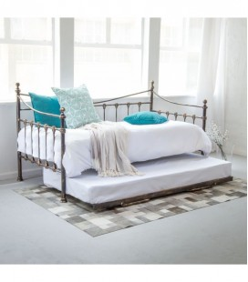 Natalia Day Bed Complete - Antique Bronze