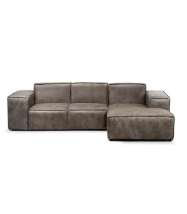 Jagger 2 Seater with Chaise - Graphite | Fabric Couches | Living -