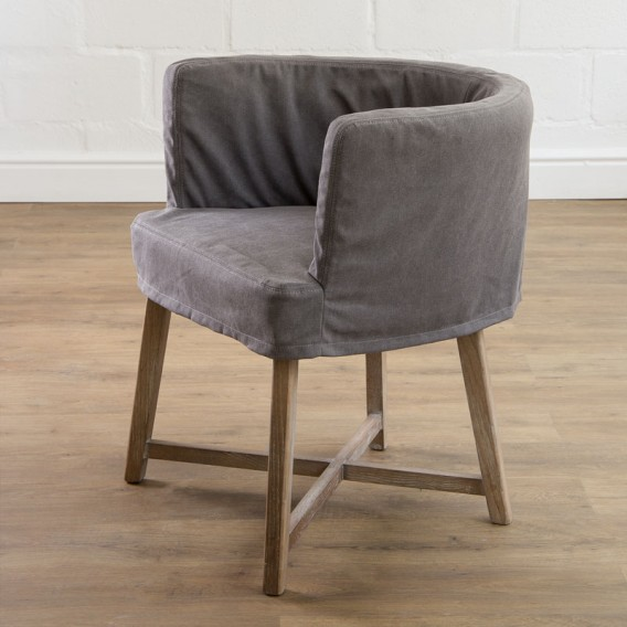 Taylor Arm Chair   Charcoal Grey