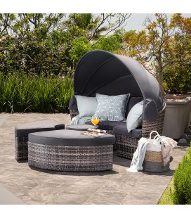 Borneo Patio Daybed - Fossil Grey | Daybeds -