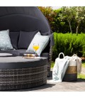 Borneo Patio Daybed - Fossil Grey   Daybeds -