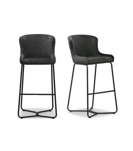 Mayfield Tall Bar Chair - Graphite - Set of 2 -