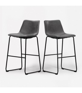 Halo Tall Bar Chair - Storm Grey - Set of 2 | Bar Chairs -
