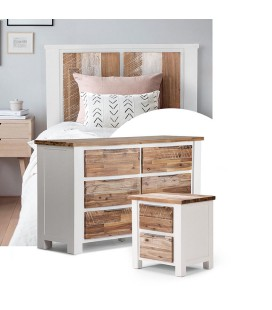 Waldorf Single Bed Base + Chest of Drawers + Pedestal