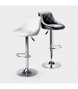 Amber Quilted PU Bar Chair - Black
