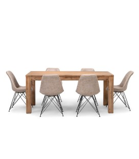 Vancouver Enzo Dining Set - Vintage Stone (1.6m) | Dining Sets -