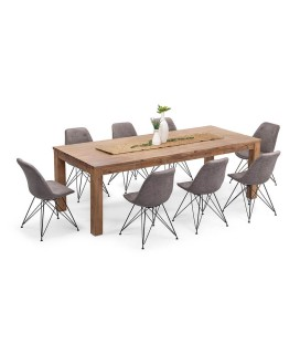 Vancouver Enzo Dining Set - Vintage Grey | Dining Sets -
